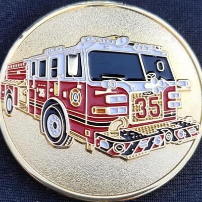 Greenbelt Fire Department Engine 35 Custom Challenge Coin by Phoenix Challenge Coins back