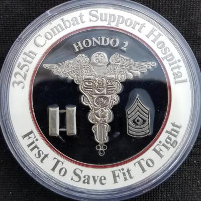 Joint Task Force-Bravo Medical Element SOUTHCOM 325th CSH Combat Surgical Hospital Command Team Hondo 2 custom challenge coin by Phoenix Challenge Coins back