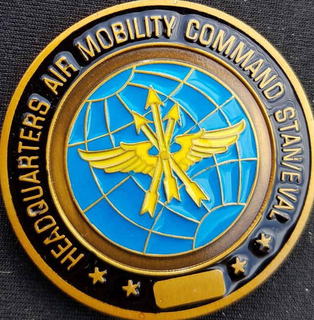 Air Mobility Command Standards ad Eval Spinner Challenge Coin by Phoenix Challenge Coins back