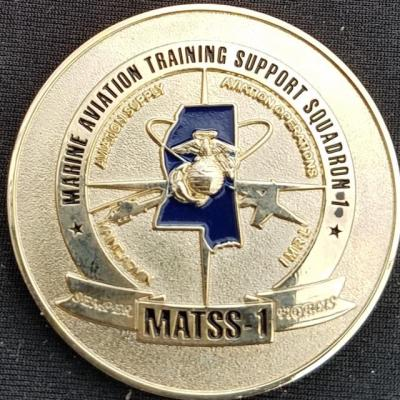 USMC MATTS-1 Marine Aviation Training Support Squadron Commander's Challenge Coin by Phoenix Challenge Coins