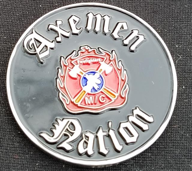 Axemen Nation MC Motorcycle Club Challenge Coin by Phoenix Challenge Coins