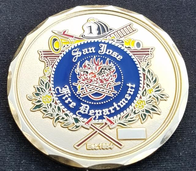 San Joe New Mexico Fire Department Market St Station 'The Zoo' Fire Fighter custom challenge coin by Phoenix Challenge Coins back