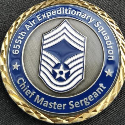 USAF 655th Air Expeditionary Squadron FOB Sharana Combat Deployment OEF Command Chief Challenge Coin by Phoenix Challenge Coins back