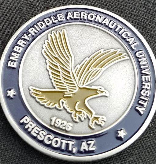 Embry Riddle University AFROTC Det 28 ROTC Challenge Coin by Phoenix Challenge Coins