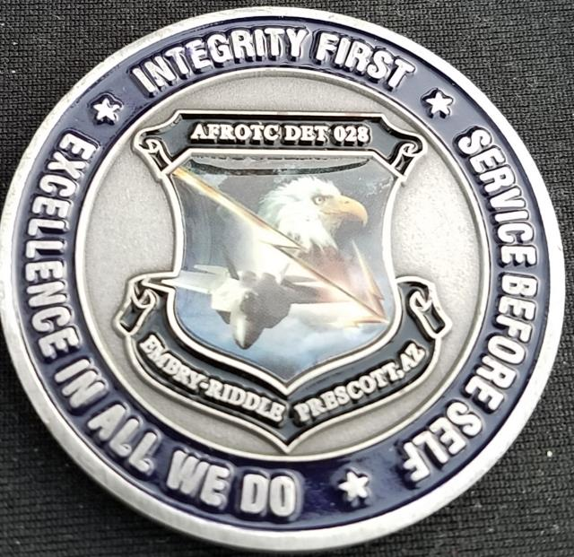 Embry Riddle University AFROTC Det 28 ROTC Challenge Coin by Phoenix Challenge Coins back