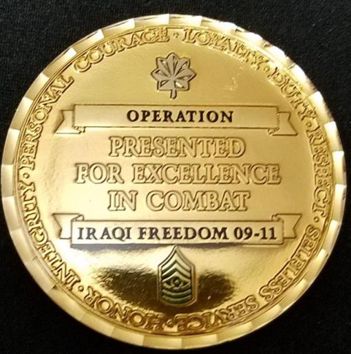1/150th AHB 1st BN 150th Assault Helicopter Battalion OIF Deployment Challenge Coin by Phoenix Challenge Coins back