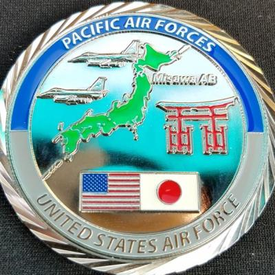 USAF 355th Communications Squadron Pacific Air force PACAF Custom Challenge Coin by Phoenix Challenge Coins back
