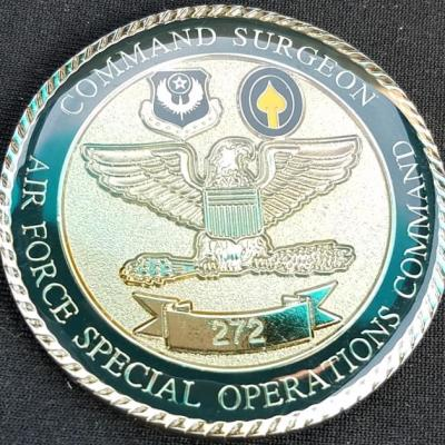 US Air Force Special Operations Command Chief Surgeon Challenge Coin Number 272 custom made by Phoenix Challenge Coins BACK