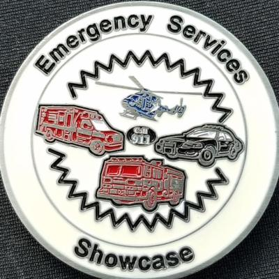 Emergency Services Showcase Emergency Vehicle and Apparatus Show Challenge Coin