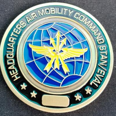 USAF Air Mobility Command Standards and Eval Scott AFB Commanders Custom made Challenge Coin back