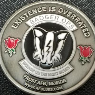 USAF Comic Badger Ops Frost AFB NV Challenge Coin