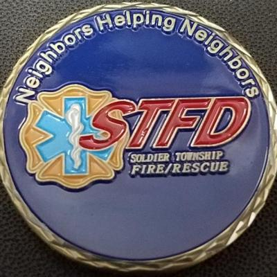 Soldier Township KS Fire Dept custom 2013 Challenge Coin by Phoenix Challenge Coins