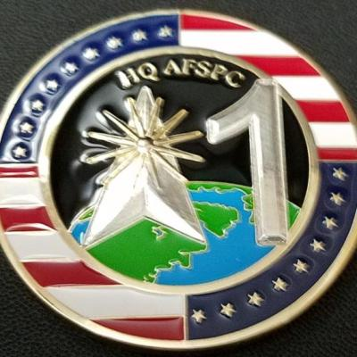 USAF SPACECOM Directorate of Manpower Personnel and Services Commander's Custom Challenge Coin