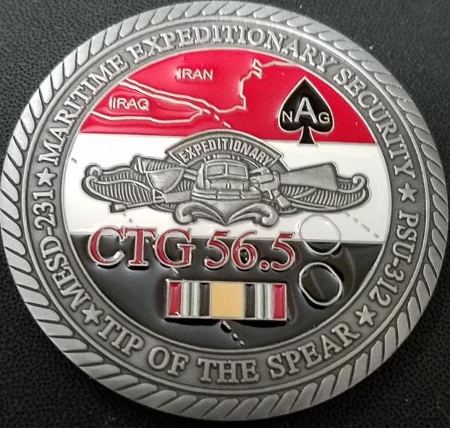 US Navy Maritime Expeditionary Security CTG 56.5 ABOT Challenge Coin