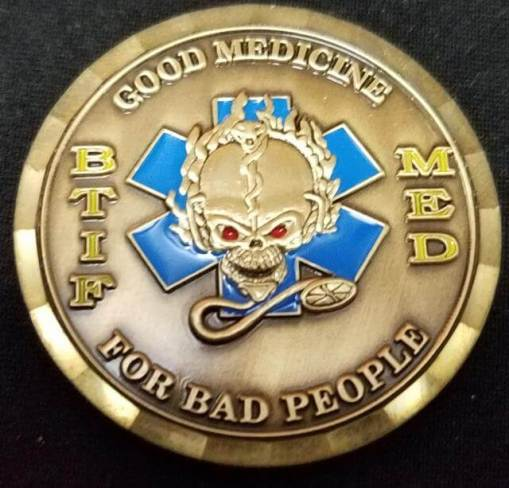 BTIF Med OEF 08-09 Bagram Deployment Custom Coin by Phoenix Challenge Coins
