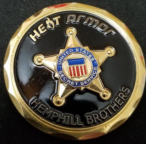 Real Authentic USSS US Secret Service PPD Transportation Protective Coach Heat Armor Coin by Phoenix Challenge Coins back
