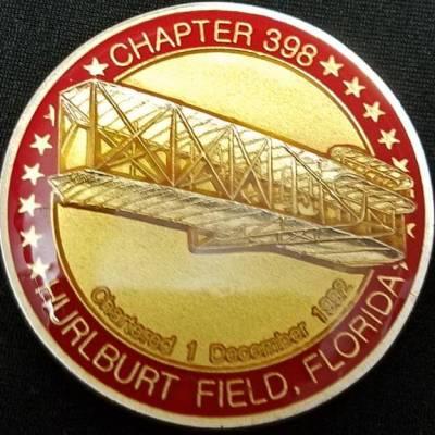 USAF Air Force Association Chapter 338 Hurlburt Field FL Challenge Coin back