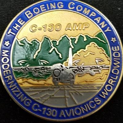 Boeing C-130 AMP Program Challenge Coin