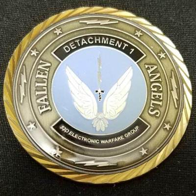 USAF 53rd Electronic Warfare Group Fallen Angels Custom Challenge Coin