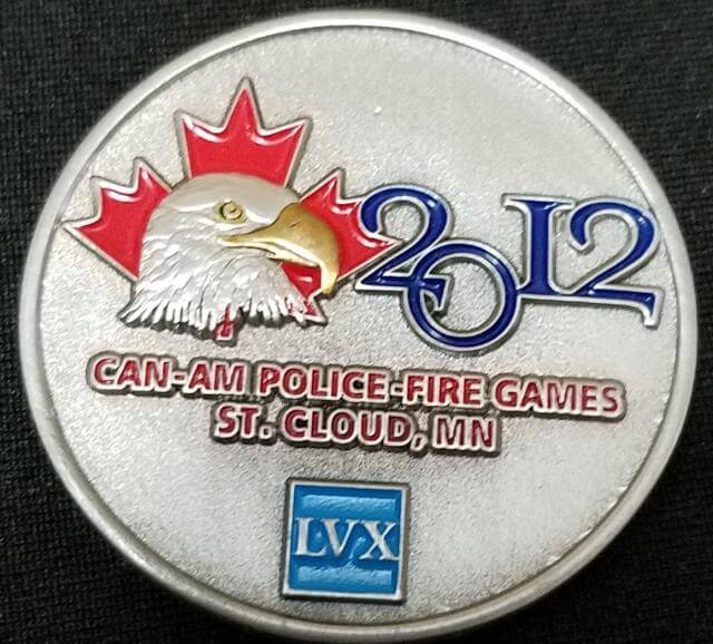 World Police and Fire Games 2012 St Cloud MN Challenge Coins back