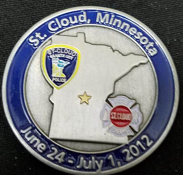 World Police and Fire Games 2012 St Cloud MN Challenge Coins