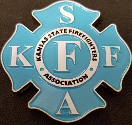 Kansas State Firefighters Association Maltese Cross Shaped Challenge Coin