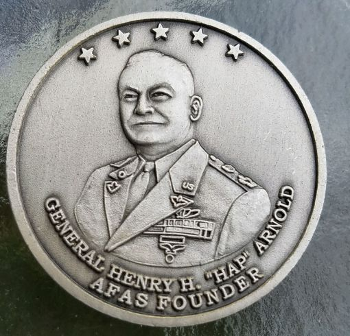 USAF Aid Society Gen Hap Arnold Founder Challenge Coin back