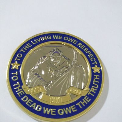 Office of District Attorney General Neal Pinkston Hamilton County Tn Cold Case Unit Challenge Coin back