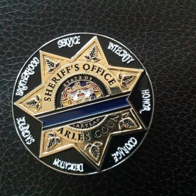 Charles County Sheriff's Office LODD Challenge Coin front