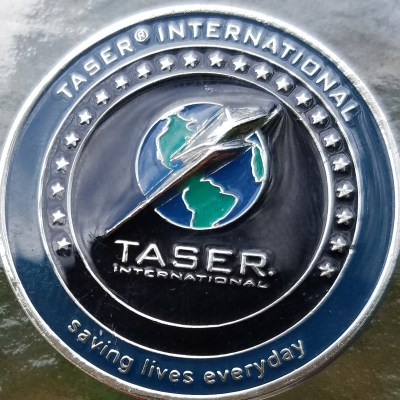 IACP 2006 Boston International Association of Police Chiefs Annual Meeting Taser International Challenge Coin