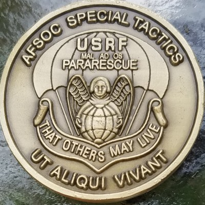 Rare Authentic USAFSOC Special Tactics PJ CCT Challenge Coin