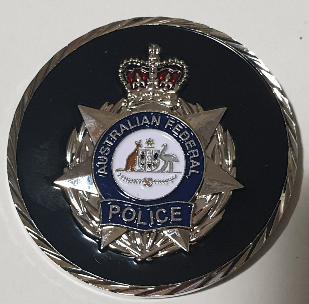 Australian Federal Police Air Marshal Program Challenge Coin front