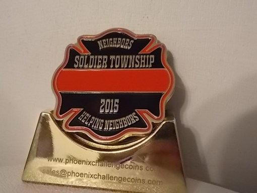 Soldier Township KS Fire Dept custom 2015 challenge coin by Phoenix Challenge Coins BACK