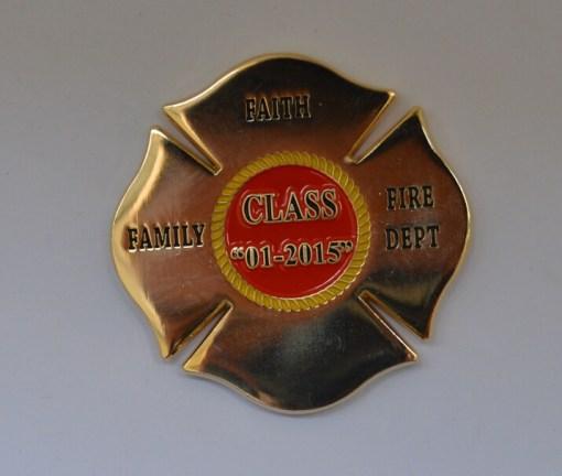 Valdosta GA Fire Academy Class 1-2015 coin back