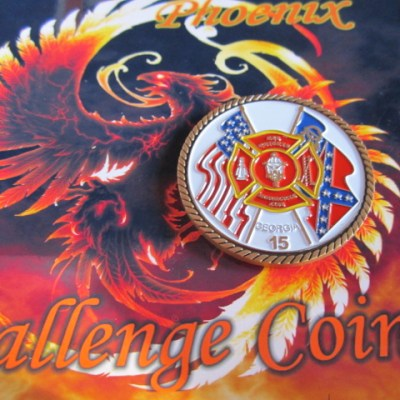 GA Red Knights Motorcycle club Ch. 15 coin back