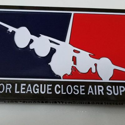 USAF AFSOC Major League Close Air Support Small Rectangle Feat Phoenix Challenge Coins Armor™