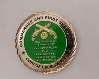 35th MP Co Command Team Coin OEF-TS HOA Deployment Challenge Coin front
