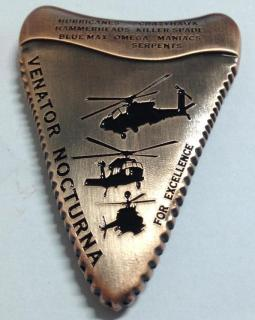 1-229th ARB TIGERSHARKS TF Tigershark OEF Command Team Shark tooth shaped Challenge COIN back