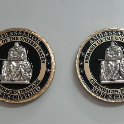 US Ambassador to Denmark Rufus Gifford Personal Presentation Challenge Coin