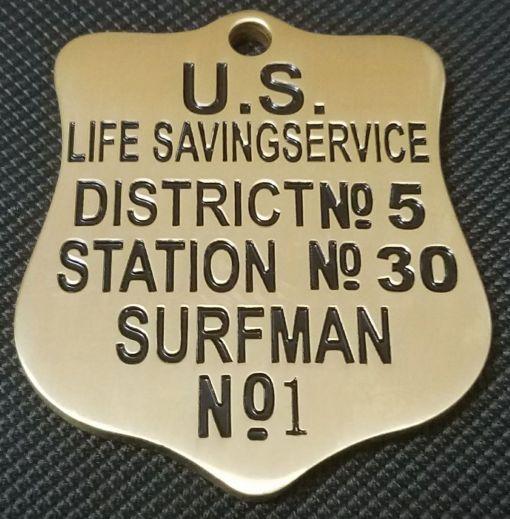 US Lifesaving Association Surf check custom token back