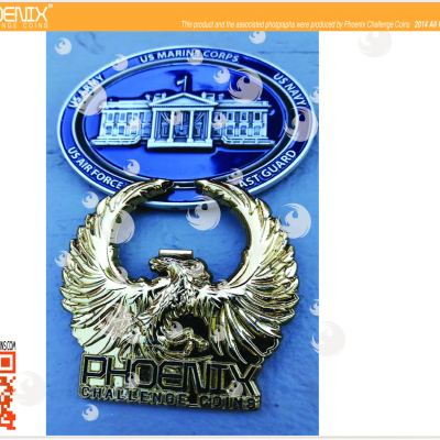 White House Military Office Oval Spinner Challenge Coin