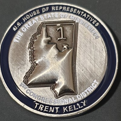 Congressmen Trent Kelly Mississippi 1st Congressional District Col Kelly 168th EN BDE Commander's Challenge Coins front