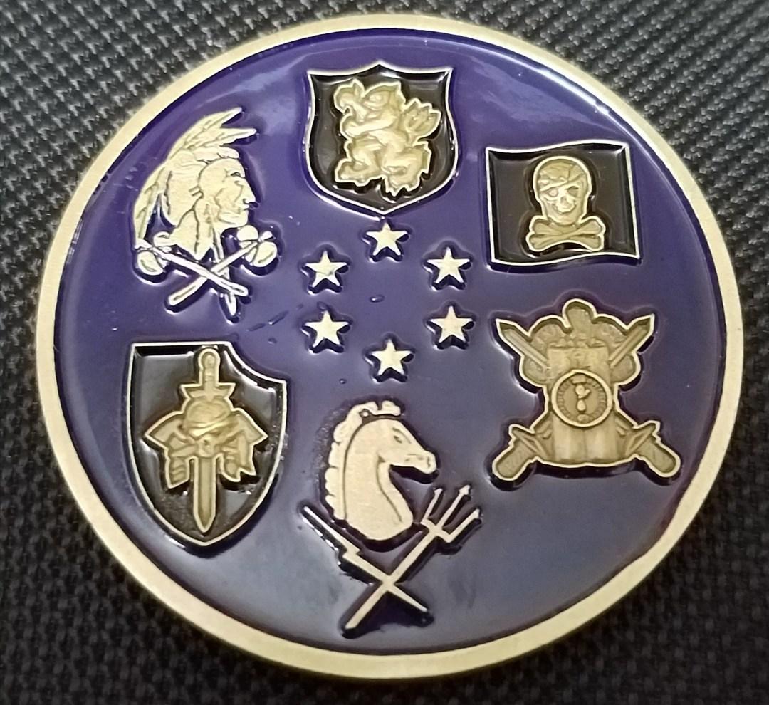 Rare Current Version US Navy Seal Team Six DEVGRU NSWDG Naval Special Warfare Development Group 6 squadron backside Challenge Coin V8