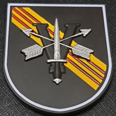 5th Special Forces Group (Airborne) 1st BN ODA 5133 Phoenix Challenge Coins (R) Armor(tm) flash shaped challenge coin