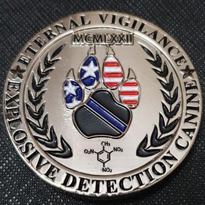 Houston Police explosive detection k9 leo coin