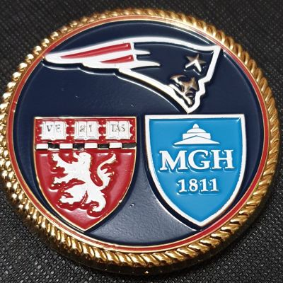 New England Patriots Cdr Mark Price Team Physician USN DET NEP Challenge Coin