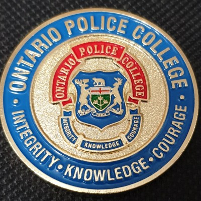 Ontario Police College Canadian Police challenge coin