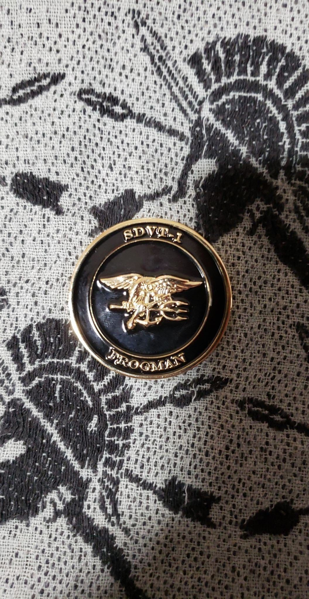 Authentic Rare Seal Delivery Vehicle Team One SDVT-1 Charlie Platoon seal team challenge coin back