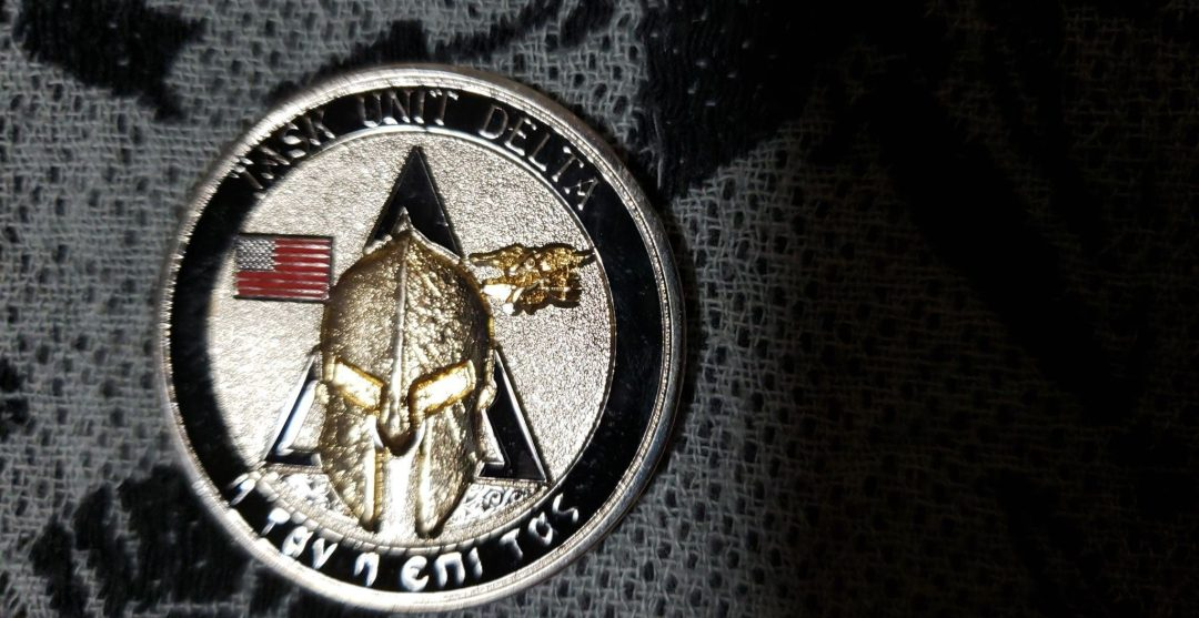 Authentic Rare Seal Delivery Vehicle Team One SDVT-1 Delta Platoon seal team challenge coin back