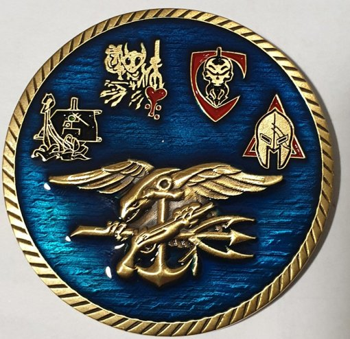 Authentic Rare Seal Delivery Vehicle Team One SDVT-1 Sports Medicine SEAL Team challenge coin back